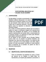 Proyecto Pastoral Educativo 2011