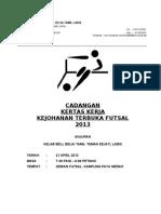Kertas Kerja Pertandingan Futsal