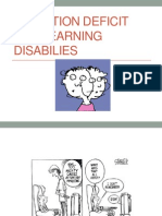 attention deficit and learning disabliles