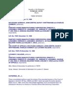 8. Saniwares Manufacturing Corp. vs Aurbach G.R. No. 75875