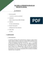 Estructura para la presentación de un proyecto