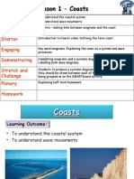 Lesson 1 – Coasts Outcomes Learning Model Starter Engaging