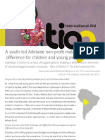 Tia International Aid, Adelaide NFP helping Bolivian youth