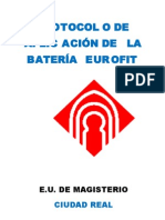 Protocolo BaterÍa Eurofit