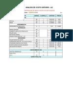 Analisis de c.u Mezcla Asfaltica