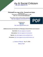 Flynn - Foucault and Hadot