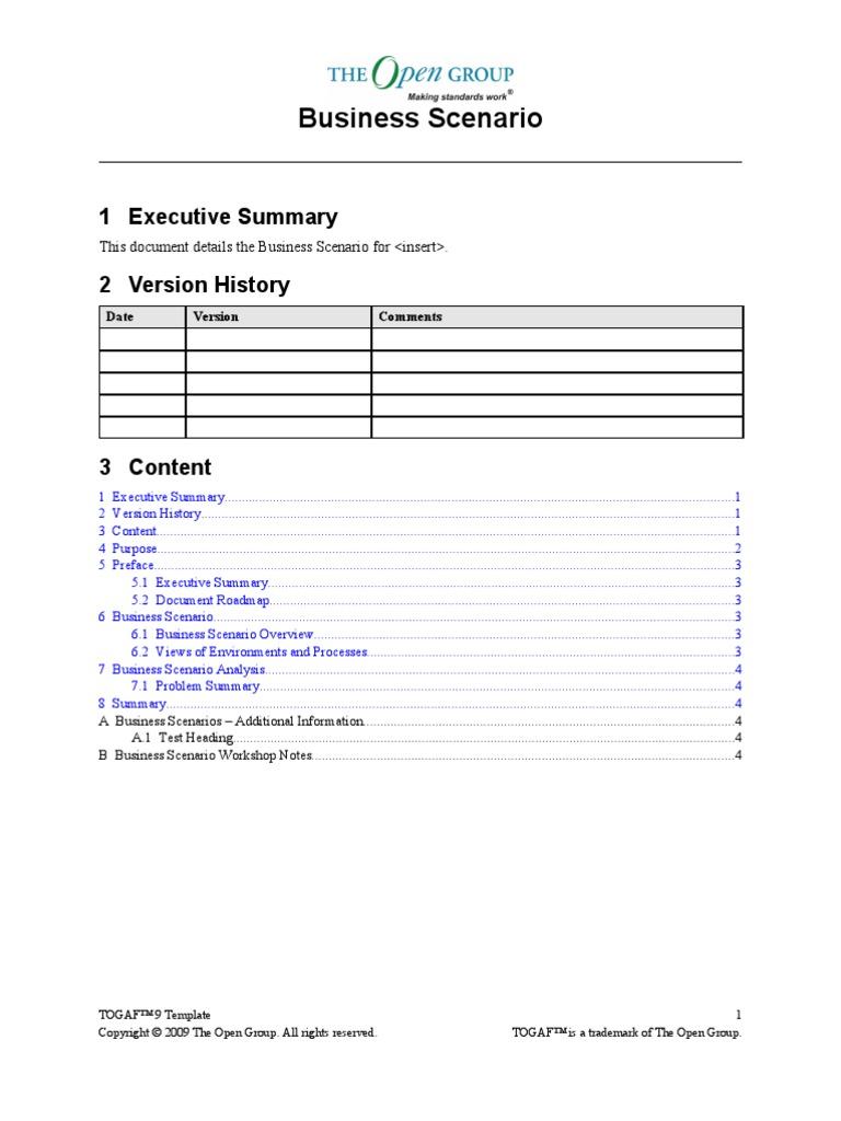 Template Bus Scenario | Copyright | Business