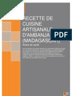 Remède de sakalava par recette de cuisine artisanale d'Ambanja