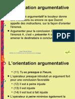 orientation argumentative