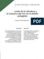 el desarrollo de la viticultura y el consumo del vino en el ámbito cartaginés Fernando Prados Martinez
