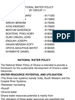 national Water policy ghana