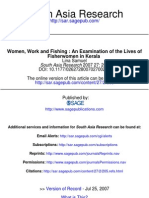 WOMEN, WORK AND FISHING:AN EXAMINATION OF THE LIVES OF FISHERWOMEN IN KERALA