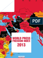 Reporters Without Borders -PRESS FREEDOM INDEX 2013