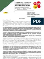 Syndicats CGT CHEMINOTS Lettre Ouverte Directeur Ligne C