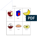 Spanish Card Game for food vocabulary