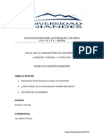 Ensayo Gestion Financiera