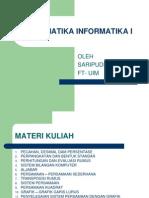 Matematika Informatika I