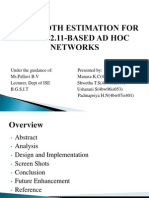 Bandwidth Estimation for IEEE 802