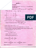 fitjee test paper of math