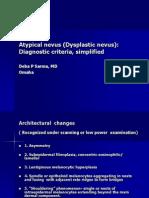 Atypical Nevus (Dysplastic Nevus) Diagnostic Criteria, PPT