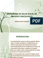 Problemas de Salud Bucal en Paciente Oncologico (1)