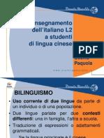 Italiano l2 Per Cinesi Paquola