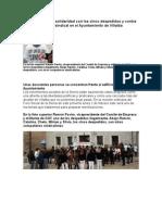 Concentración en Solid Arid Ad Con Los Cinco Despedidos y Contra El Acoso Laboral y Sindical en El Ayuntamiento de Villalba