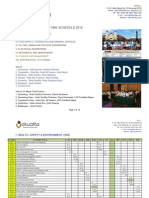 Training and Certification Schedule AKUALITA FY2012