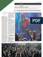 El demoledor concierto de Destruction - El Comercio Arequipa (02/02/2013)