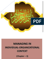 managing in individual context