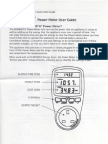 Power Meter Eliminata manual