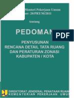 Pedoman RDTR dan Peraturan Zonasi tahun 2011