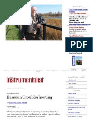 bassoon troubleshooting | Bassoon | Aerophones