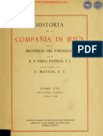 HISTORIA DE LA COMPAÑIA DE JESÚS EN LA PROVINCIA DEL PARAGUAY - POR EL PADRE PABLO PASTELLS - TOMO VIII - SEGUNDA PARTE - 1760 a 1768 - PORTALGUARANI