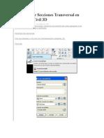 Como Crear Secciones Transversal en AutoCAD Civil 3D