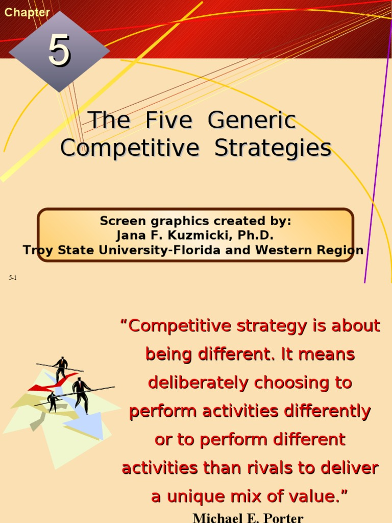 Five Generic Strategies Competitive Advantage