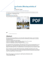 Some aspects of water filtering activity of filter-feeders. With images / pictures of the first 2 pages.  http://ru.scribd.com/doc/123508595