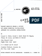 FLIGHT RESULTS FROM A STUDY OF AIDED INERTIAL NAVIGATION APPLIED TO LANDING OPERATIONS