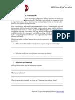 Campus MFI Start up Checklist
