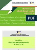 curriculum pentru educatie timpurie
