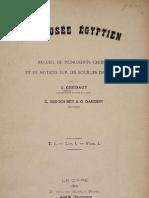 Grébaut, Eugène - Le Musée égyptien. Recueil de monuments t.I 1890-1900 (1890)