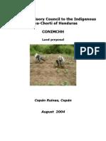 Preposed Land Reforms by the People of the Maya Chorti of Honduras - 2004, Translation