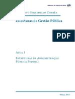 Estruturas de Gestao Publica Aula 1 2012