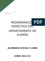 PROGRAMACIÓN DIDÁCTICA 2012-13