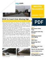 Wise Up Winnipeg January 2013 Monthly Newsletter