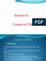 Cause of War Session II