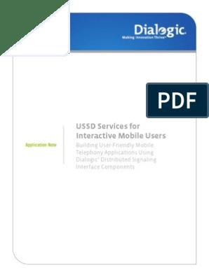 USSD Message Flow | Short Message Service | Mobile Phones
