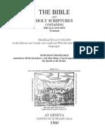 The Geneva Psalms (1560)