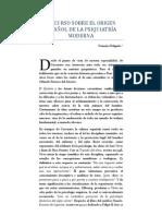 DISCURSO SOBRE EL ORIGEN ESPAÑOL DE LA PSIQUIATRÍA MODERNA - Honorio Delgado