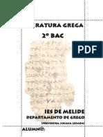 Temario de literatura grega de 2º de BAC